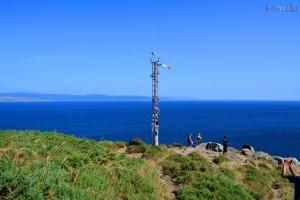 Cabo Finisterre mit der italienischen Flagge :o