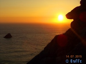 Sunset at Cabo Finisterre