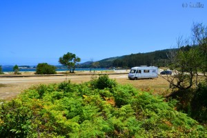 Parking at Playa de Os Muiños - Rego de Moraime - Muxía - A Coruña – Spain – July 2015