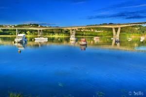 Playa de O Pedrido - Ría de Betanzos – Spain – hier mit der Autobahn-Brücke