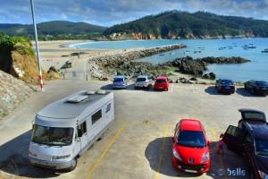 Parking at Porto de Espasante - Estrada do Porto, 15339 Ortigueira, A Coruña, Spanien – July 2015