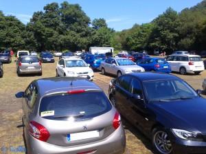 Der Parkplatz am Playa Concha de Artedo ist voll!