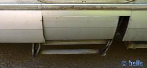 Unsere demolierte Treppe – hoffentlich kann Baffo das wieder richten!!!