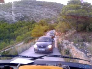 Und nun? Wer setzt zurück? Anfahrt zum Parco D'Irta - Duna del Pebret