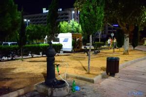 Wasser tanken in Peñíscola um 2:33 Uhr :o