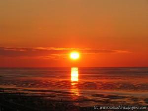 Sonnenuntergang am 05. Oktober 2005 in Cuxhaven