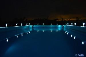 Pool von Silvia bei Nacht - einfach wundervoll!!! ...ich tauche nochmal schnell ab...