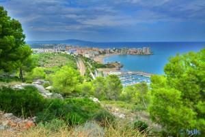 Ausblick... ...auf die hässlichen Hochhäuser in Orpesa / Oropesa del Mar :o