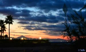 Sunset at Platja L'Almadrava
