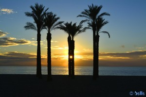 Sunrising at Playa de las Salinas - Av Legión Española, 10, 04740 Roquetas de Mar, Almería, Spanien