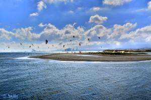 1 Million Kiters in Palmones – (im Hintergrund Algeciras) – Spain