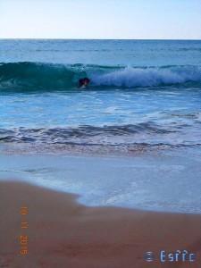 ...jetzt gibt's nur noch Abtauchen! Playa de los Lances Norte - N-340, 11380 Tarifa, Cádiz, Spanien – November 2015
