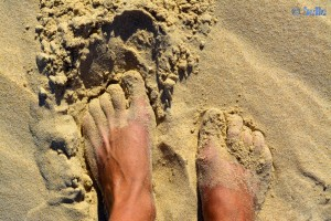 Puderzucker-Strand - Playa de los Lances Norte - N-340, 11380 Tarifa, Cádiz, Spanien – November 2015