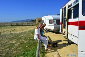 Herbie on Tour – hier in Tarifa – Playa de los Lances Norte – Spain