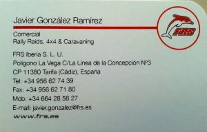 Javier González Ramírez Comercial Rally Raids, 4x4 & Caravaning