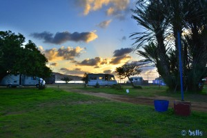 """Parking in the Camping """"Atlantis gate"""" - Moulay-Bousselham – Marocco"""