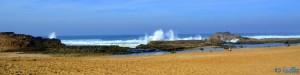 Klippen an der Küste bei Oualidia, Marokko