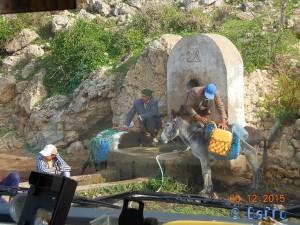 Natürlicher Brunnen - Lalla-Fatna - R301, Marokko (busy)