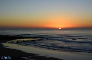 Sunset in Imsouane, Marokko