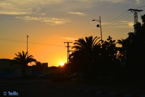 Sunnenuntergang kurz hinter Agadir – N1 – Marokko