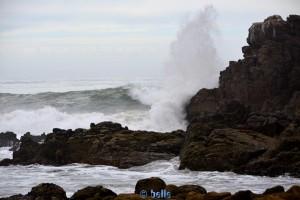Strong Waves at the Coast near Sidi Boulfdail - Marokko