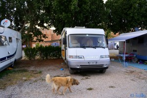 Parking in Camping Municipal Tiznit - Avenue Sidi Abderrahmane, Tiznit, Marokko – December 2015