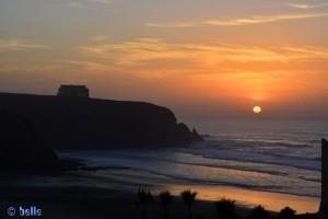 Sunset - R104 - Mirleft, Marokko – on the Road