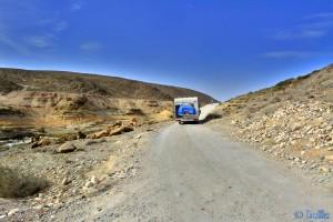 Piste zum Plage Foum Assaka - Oued Noun