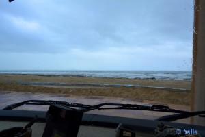 Rain in El Ouatia, Plage Tan Tan - Marokko