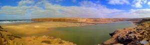 Oued ez Zehar – Akhfennir (Panorama-Bild mit dem SmartPhone)