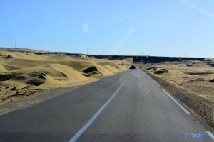 On the Road - N1 - between Akhfennir and Tarfaya – Marokko