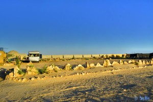 Parking in the Camping Villa Bens - Tarfaya - Laâyoune-Sakia el Hamra – Marokko – Januara 2016