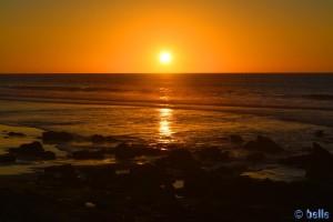Sunset at the Route Tarfaya-Foum el Oued - Cercle de Laâyoune - Laâyoune-Sakia El Hamra – Marokko