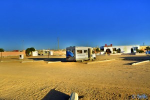Parking in the Camp Sahara Line - Boujdour - Laâyoune-Sakia El Hamra – Marokko – January 2016