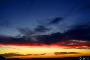 Der Himmel brennt - Boujdour – Marokko (und wer sieht den kleinen Sichel-Mond?)