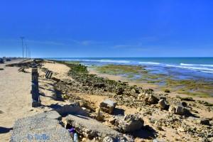 Reparaturbedürftige Promenade – Boujdour – Marokko