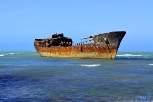 Schiffswrack kurz nach Boujdour – Marokko