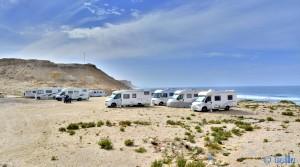 Parking in Village de Pêche Oued Kraa – Marokko – January 2016