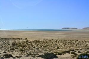 Kite-Surfer in der Lagune bei Dakhla - Marokko