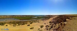 Unser Stellplatz - von der anderen Seite – Panorama-Bild mit dem SmartPhone