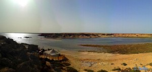 Die kleine Lagune von der anderen Seite – Dakhla – Marokko (Panorama-Bild mit dem SmartPhone)