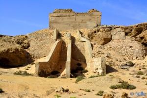 Merkwürdiges Gebäude in Dakhla – Marokko am Bahia de Dakhla
