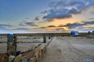 Parking in the Camping Villa Bens - Tarfaya - Laâyoune-Sakia el Hamra – Marokko – February 2016