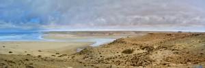 Panorama-Bild (erstellt mit Image Composite Editor) von Parking at Foum Darâa – Marokko