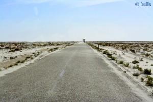 Weit und breit nix - nur Flugsand - On the Road - N1 – Marokko