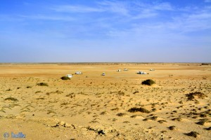 Parking at Cap Barbas - Lamhiriz - Cercle de Bir Gandouz - Dakhla-Oued Ed-Dahab – Marokko – February 2016