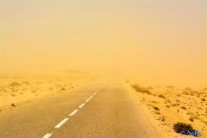 ...Mitten drin! - Sandstorm - On the Road to Dakhla – Marokko