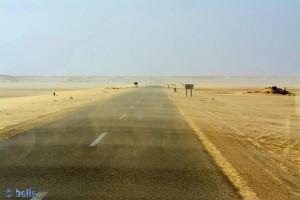 ...auch hier pustet es noch gewaltig - Sandstorm - Dakhla – Marokko