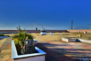 Parking in Camp Sahara Line - Boujdour - Laâyoune-Sakia El Hamra – Marokko – Februar 2016