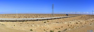Panorama-Bild - Längstes Förderband der Welt - von Bou Craa nach El Aaiún - El Marsa – Marokko